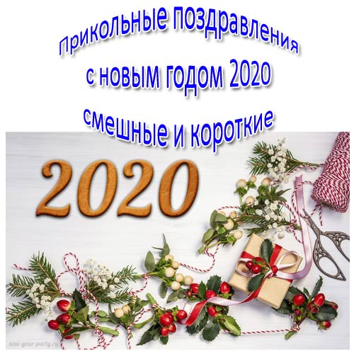 Прикольные поздравления с новым годом 2020 смешные и короткие (год крысы 2020)