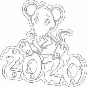 Вытынанки на новый год 2020. Шаблоны распечатать на год мышки (крысы)